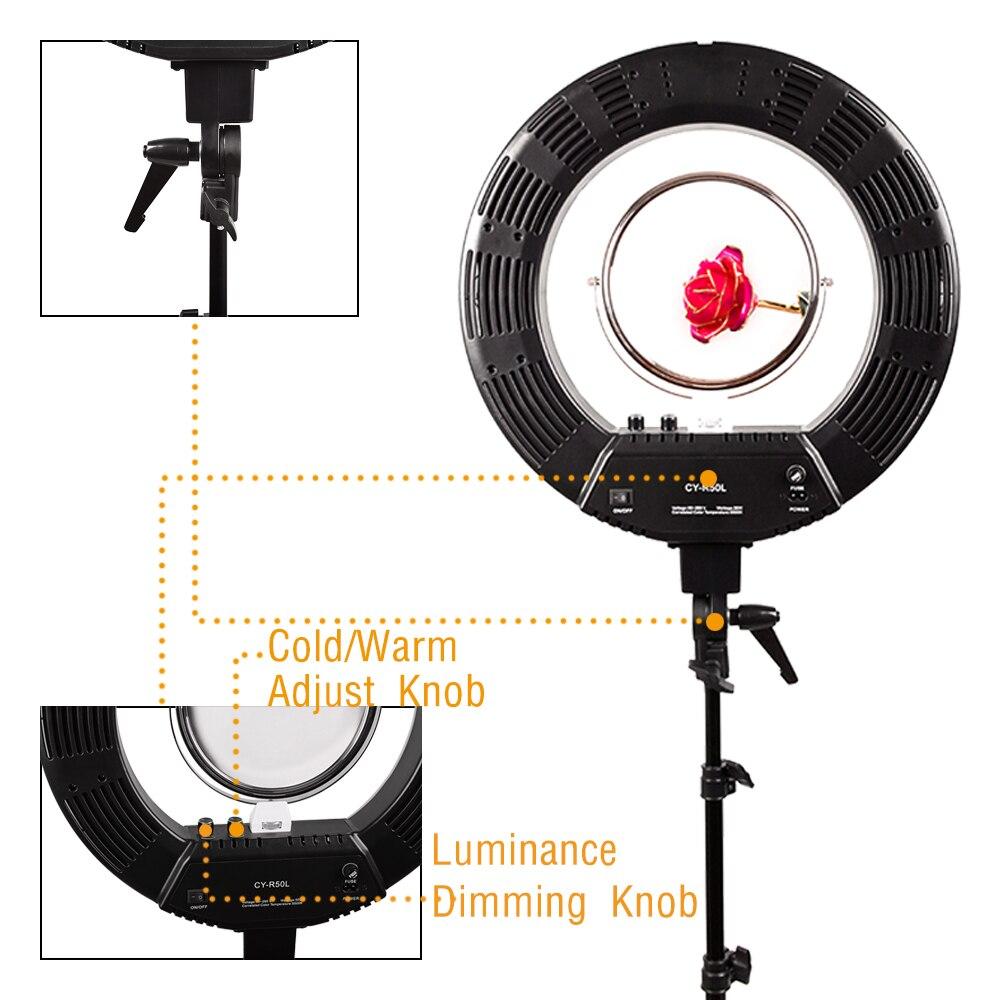 Black 18 48W 480pcs LED Ring Light 3200-5600K Dimmable Photo/Video for Home YouTube Media Film Studio Setup Makeup barber shop