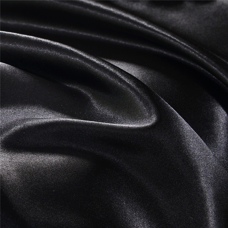 EHOMEBUY 2018 Duvet Cover Zipper Quilt Cover Solid Color Black Advanced 1 Piece Home Hotel Bed Soft Qualified Comfortable in Duvet Cover from Home Garden