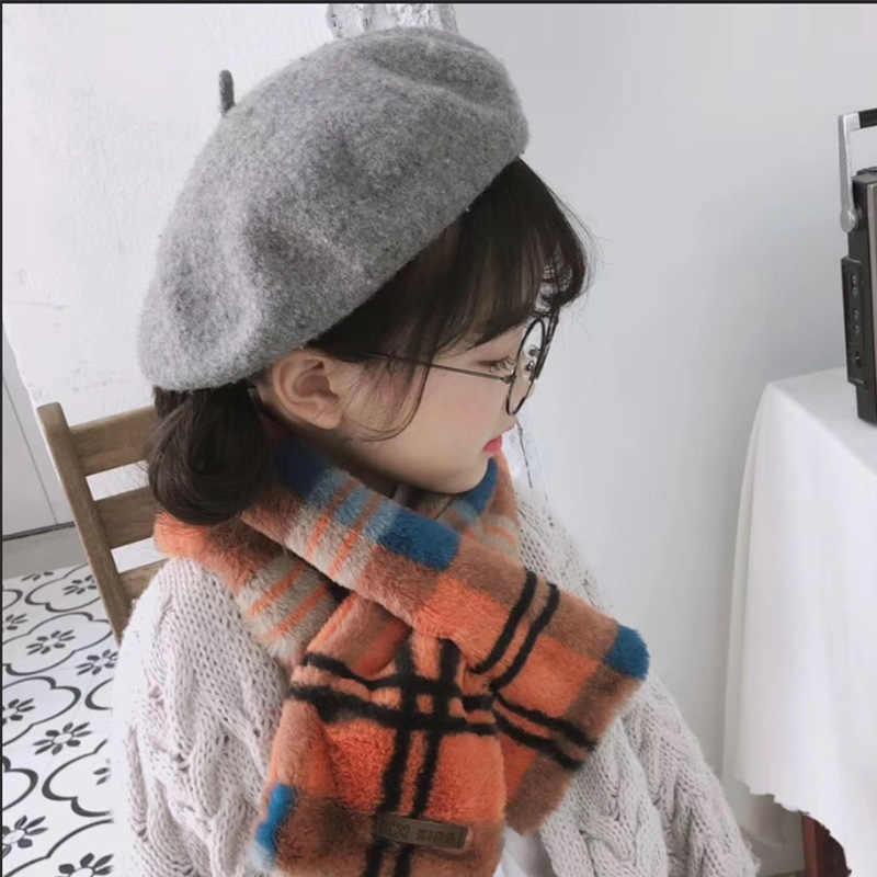 2660bf2d68f Autumn Winter Children s Beret Boys And Girls Woolen Felt Hat Baby Outdoor  Warm Hat Kids High