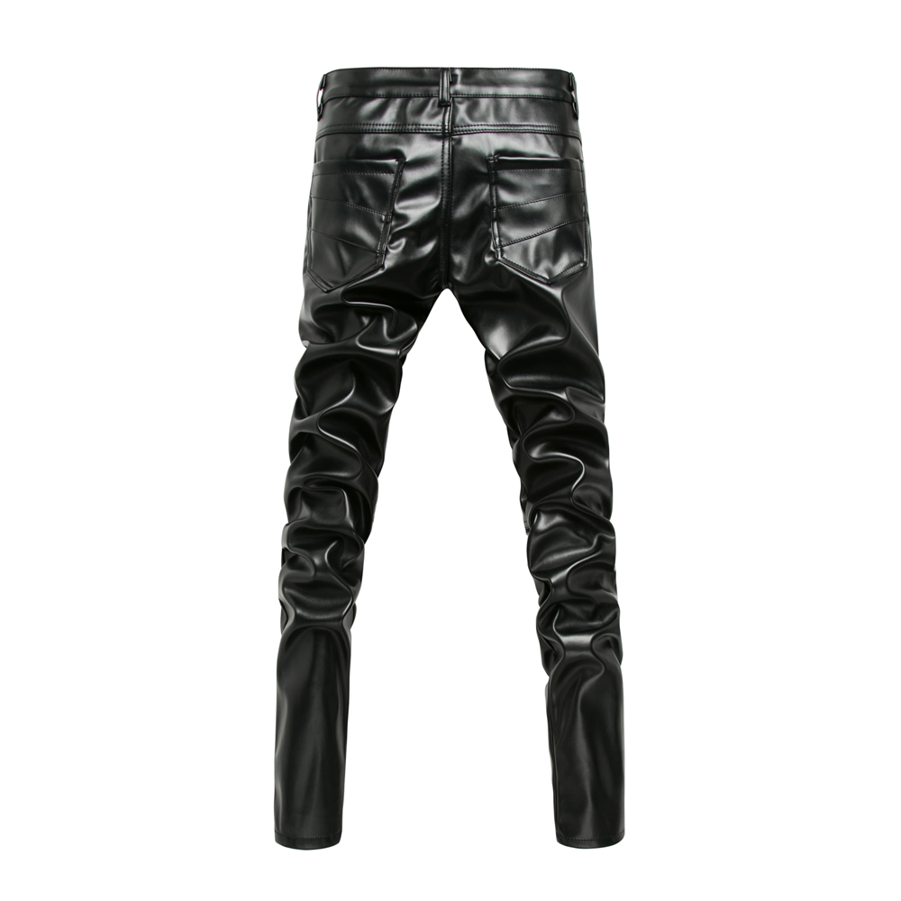 New Arrived Personality Male Leather Pants Male Slim Leather Pants Men s Clothing PU Pants Male New Arrived Personality Male Leather Pants Male Slim Leather Pants Men's Clothing PU Pants Male