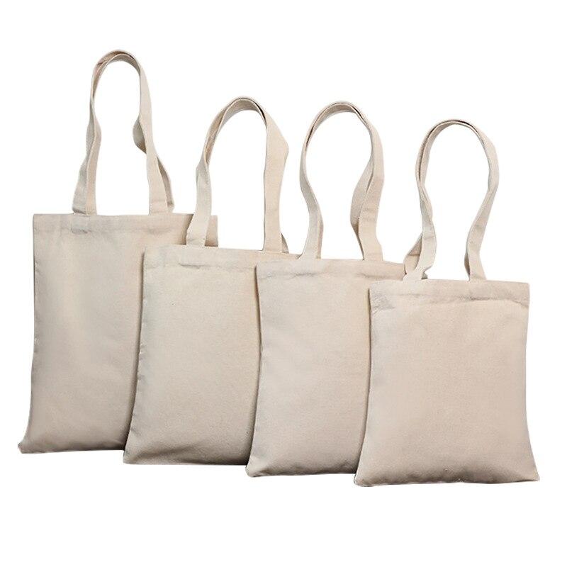 100 pcs shopping sac Étudiant Coton Linge De Mode D'épaule Fourre-Tout Sac À Main Éco Shopping Grande Capacité Toile Poche Personnalisé sac