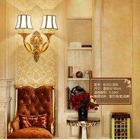 Европейский стиль минимализм светодиодный настенный светильник Современный cooper Бра Гостиная Спальня прикроватный свет столовая внутренн