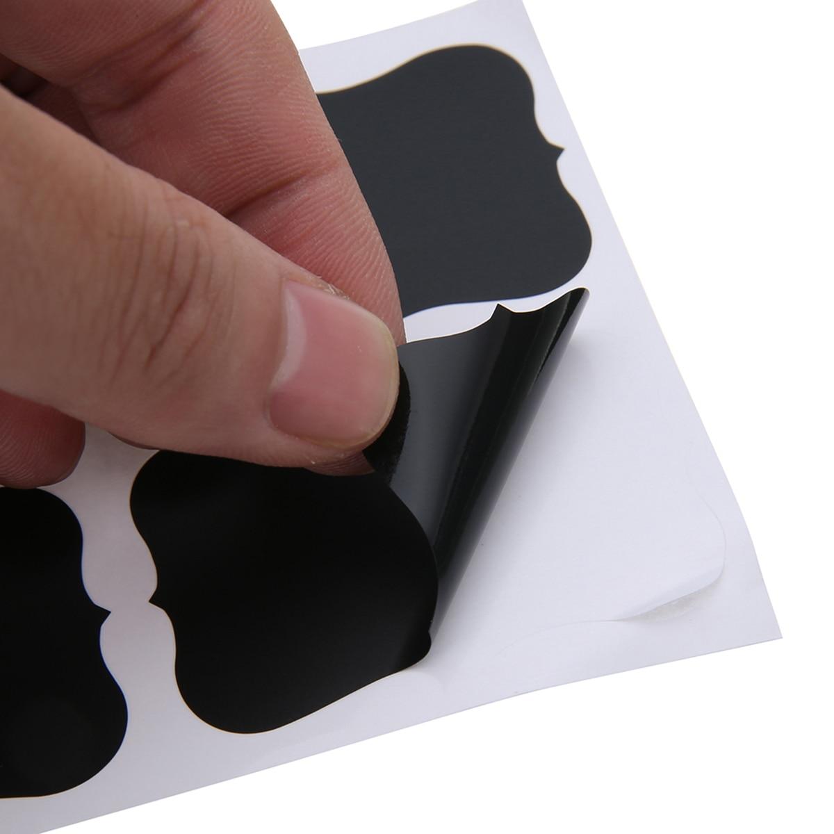 100pcs Blackboard Sticker Label Chalk Board Labels Kitchen Jars Organizer Craft Chalkboard Sticker For Home Kitchen Decoration
