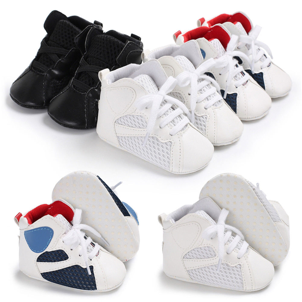 2018 New Brand  Patchwork Infant Toddler Baby Boy Girl Soft Sole Crib Shoes Sneaker Newborn Casual Shoes