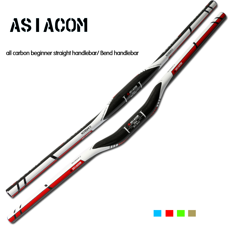 Brand New ASIACOM Mountain bike 3K full carbon fibre bicycle <font><b>handlebar</b></font> carbon bend bar MTB lightest 31.8*600-<font><b>760mm</b></font> Free shipping image