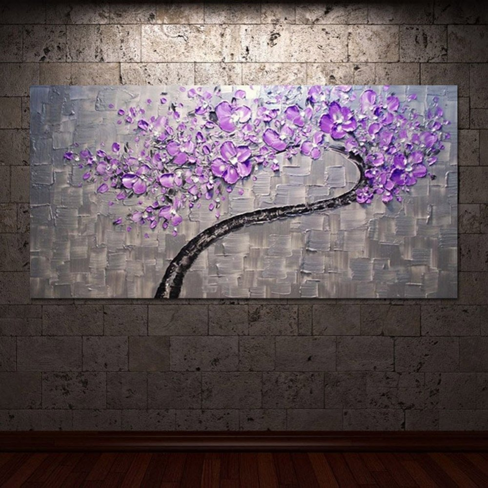 living room hall wall art handmade landscape oil paintings on canvas