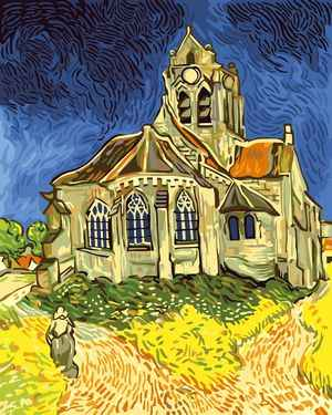 Frameless DIY Digital Oil Painting On Canvas coloring By Numbers Home Decoration wall art pictures Van Gogh - Orville church