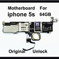 Desbloqueado telefone original mainboard para iphone 5s motherboard com touch id 64 gb 100% de trabalho da ue versão com fichas completas