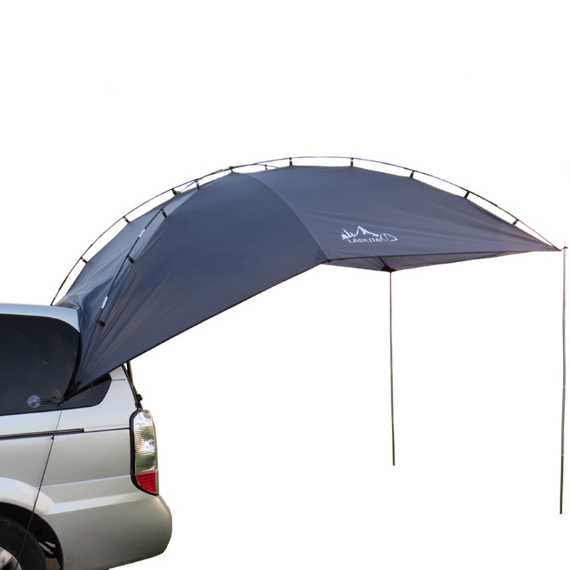 Outdoor Folding Car Tent Sun Shelter Awning for Car Poles including 3.5m*2.4m 4.6kg outdoor double layer 10 14 persons camping holiday arbor tent sun canopy canopy tent