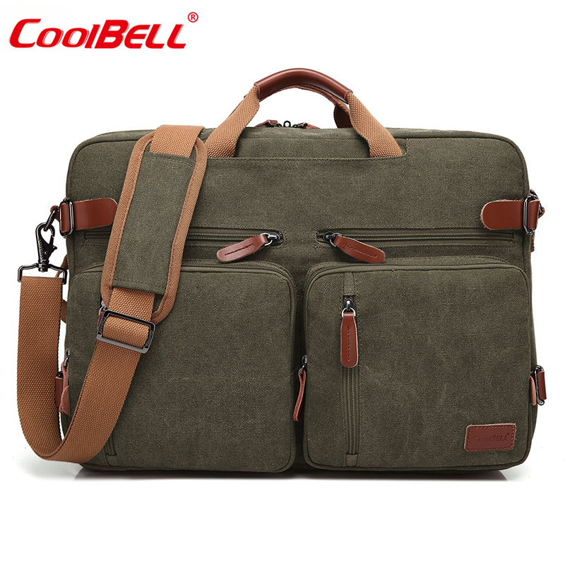 CoolBell Laptop Shoulder Bag 17.3 inch Convertible Backpack For Men Women Large Capacity Travel Rucksack Casual Laptop Backpack coolbell 18 4 inch backpack laptop bag travel rucksack waterproof hiking knapsack protective day pack for men women