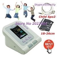 contec08a Child/Kids Digital Blood Pressure Monitor Upper Arm NIBP(16 28)+ Software+ SPO2 probe CE