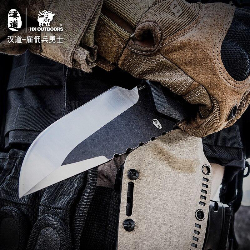 HX BUITEN Huurling Camping messen Jachtmes CS GAAN Tactische Mes Hike Outdoor Zelfverdediging Survival Gereedschap Met Kydex - 5