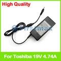 19 v 4.74a 90 w cargador portátil adaptador de ca para toshiba pa3716u-1aca pa5035e-1ac3 pa5035e-1aca pa5035u-1aca pa5115e-1ac3