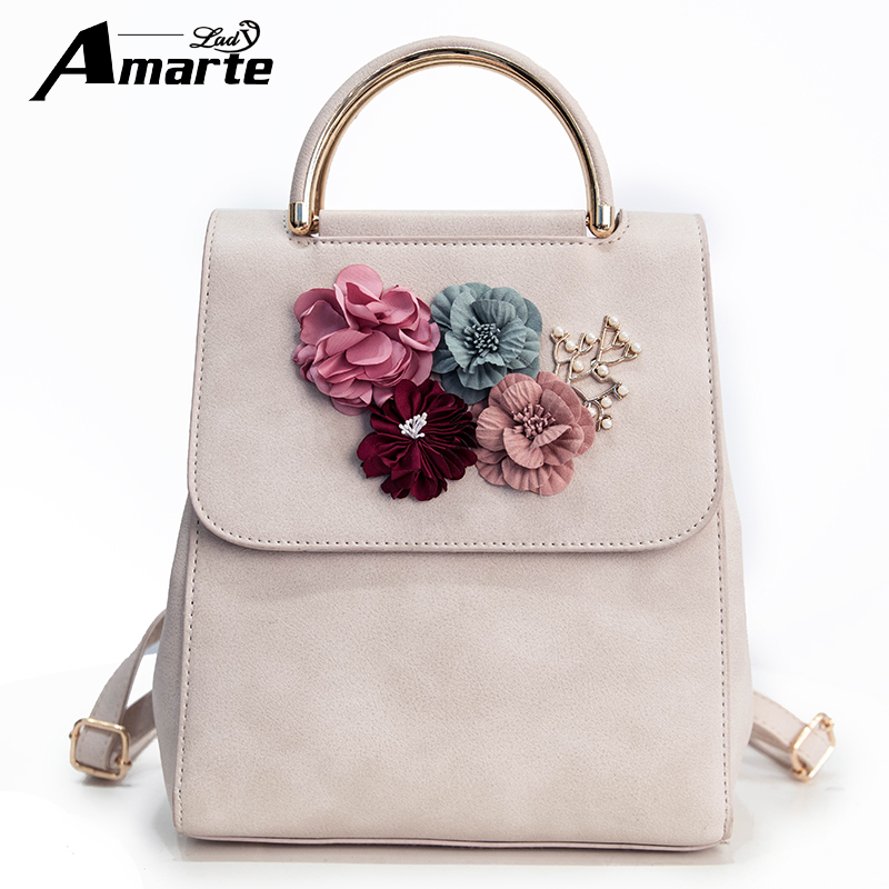 Amarte Women Backpack Style School Bags For Women Retro and Vintage Backpack Students School Bag Flowers