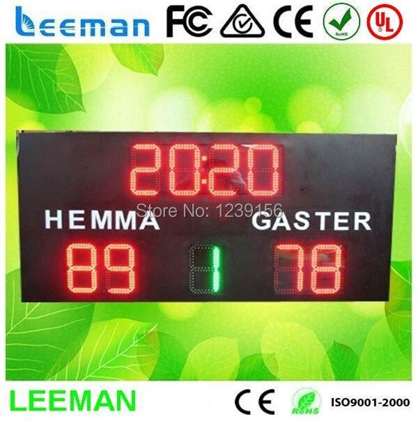Leeman стадион футбол из светодиодов табло из светодиодов хоккей крикет цифровой табло электронный из светодиодов портативный баскетбол табло