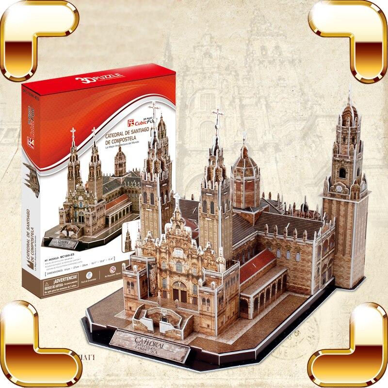Nouvelle Arrivée Cadeau Santiago De Compostela 3D Puzzles Modèle Bâtiment Église Puzzle Décoration Jouets Éducatifs Adulte Puzzles DIY