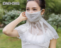 Breathe Freely Sunscreen Mask Thin Large Pallium Mask Summer Scarves Anti-UV Mask Riding Female Neck Protector Outdoor