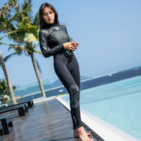 Гидрокостюм 1,5 MM утолщенный теплый костюм для дайвинга Для женщин с длинными рукавами для девочек купальный костюм для серфинга комбинезон