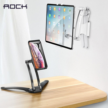 Rock Universal Adjustable Desktop Holders Phone Tablet Stands for iPad Air 2 3 4 5 Mini 1 Lazy Lifestyle PC