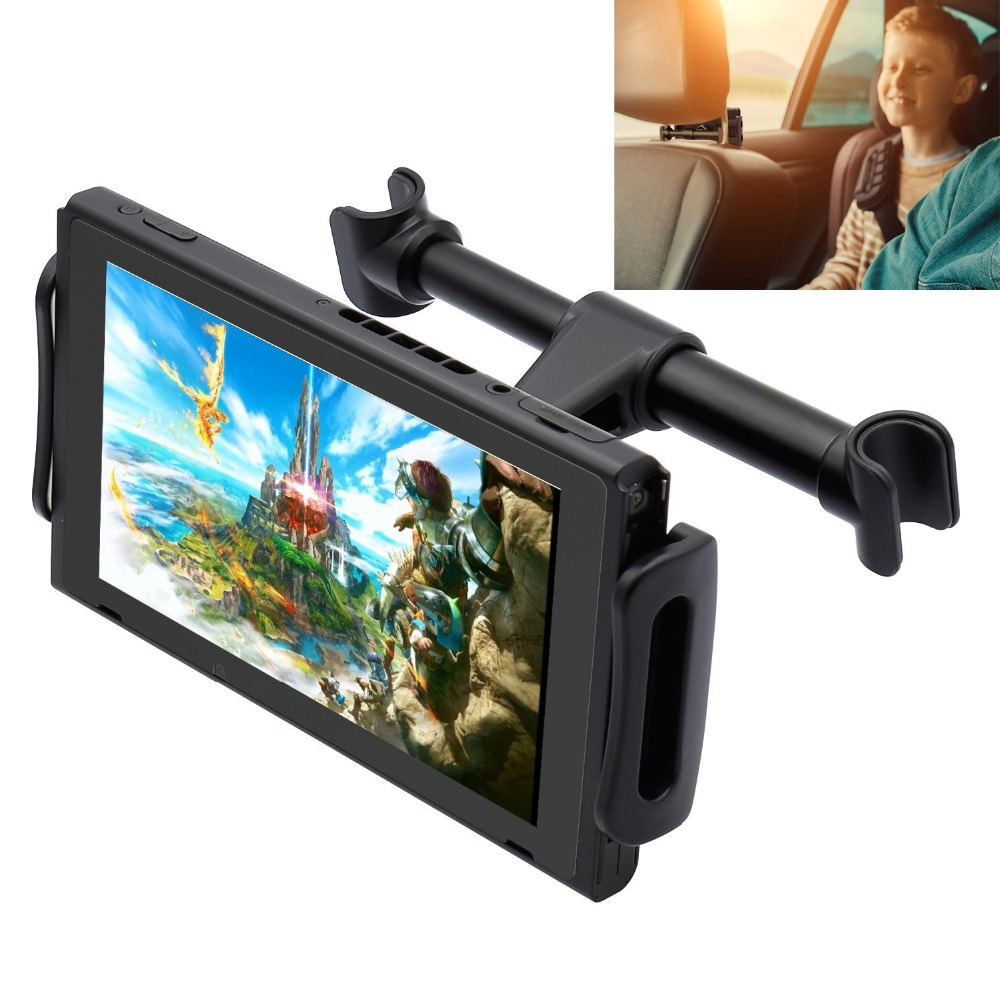 Car Headrest Mount for Nintendo Switch,Adjustable Car Holder for Nintend Switch/iPhone/iPad/Amazon Kindle Fire and Other Device