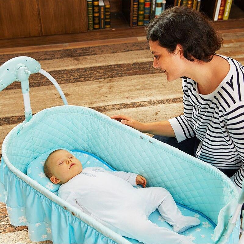 Детские дистанционного вышибала новорожденных спальный кровать музыка коаксиальный Джемперы спальная Колыбель многофункцион