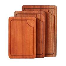 Cutting Board With Juice Groove - Best Kitchen Steak Chopping Board, Multipurpose Thick Sapele Wood Food Tray(China)