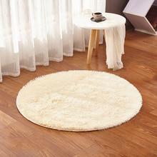 Пушистый круглый ковер ковры для гостиной ковер из искусственного меха для детской комнаты длинные плюшевые Коврики для спальни мохнатый ковер