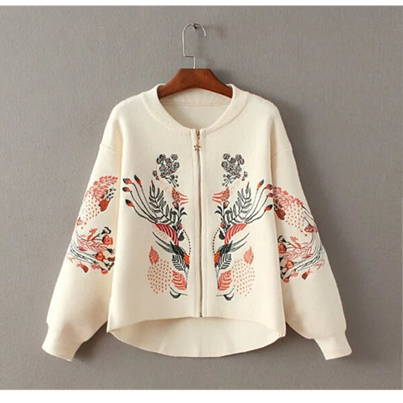 Aliexpress buy retro flower embroidery sweater