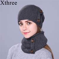 Xthree Fashion Winter Hat For Women And Men Knitted Hat Beanie Hat Scarf Brand New Thick