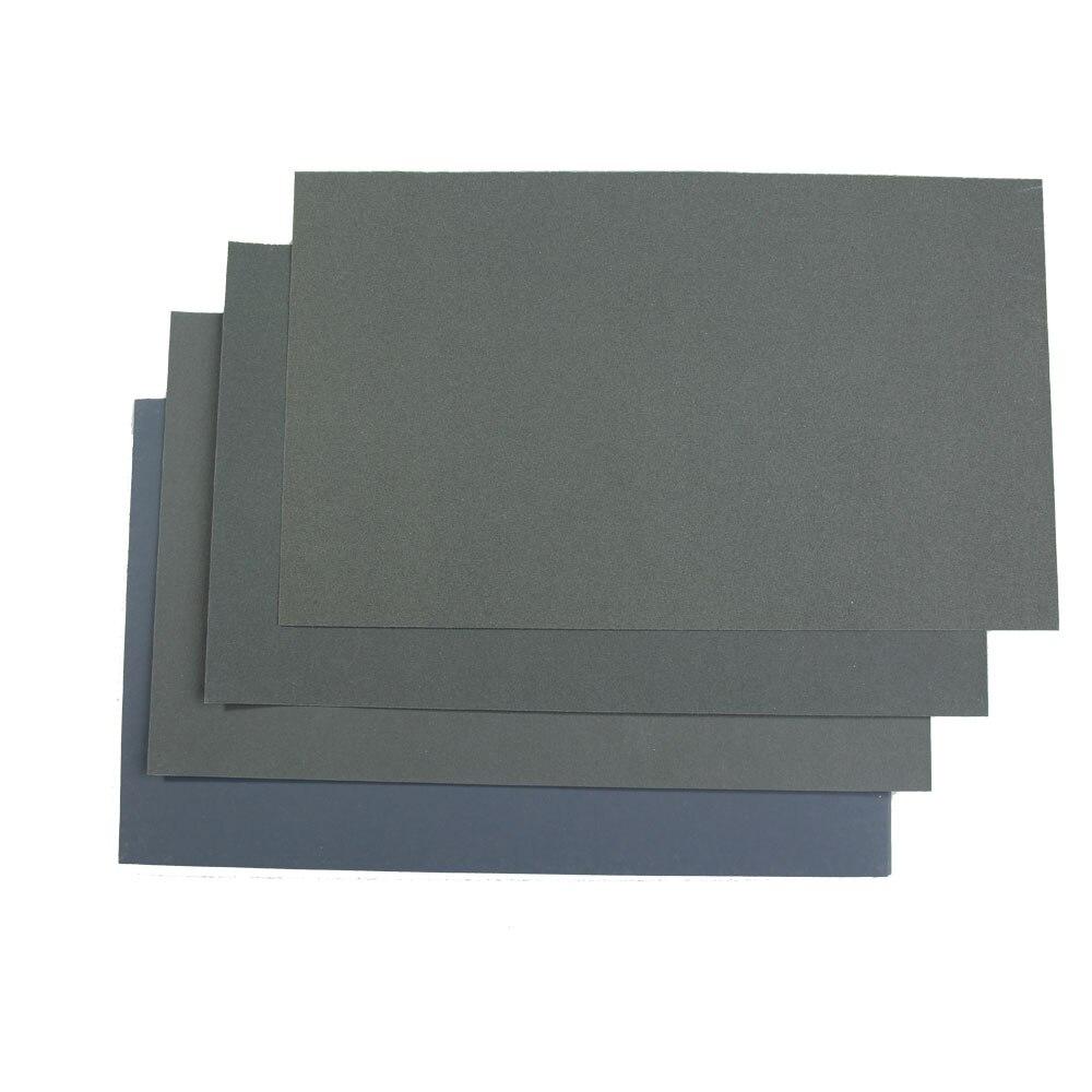 6Pcs Wet/Dry Waterproof Abrasive Sandpapers 6 Types Grinding Polishing Sanding Abrasive Paper Sheets Set Finishing Tool