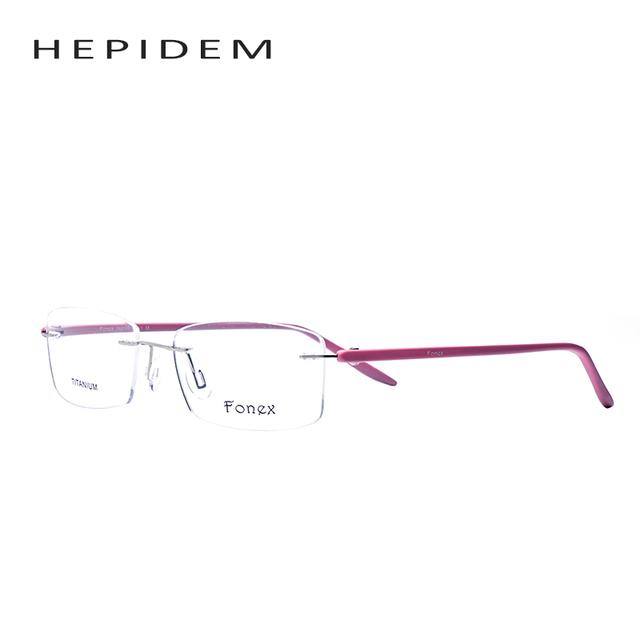 2017 Quadrado de Alta Qualidade Miopia Óculos Sem Aro Mulheres Óculos Feminino Rosa Optical Quadro TR90 Óculos de Memória com caixa original