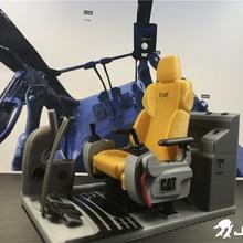 Дистанционное управление гидравлический экскаватор оболочки кабины моделирование сиденья аксессуары для 1:12 1:14 CAT экскаватор pushdozer модель крана