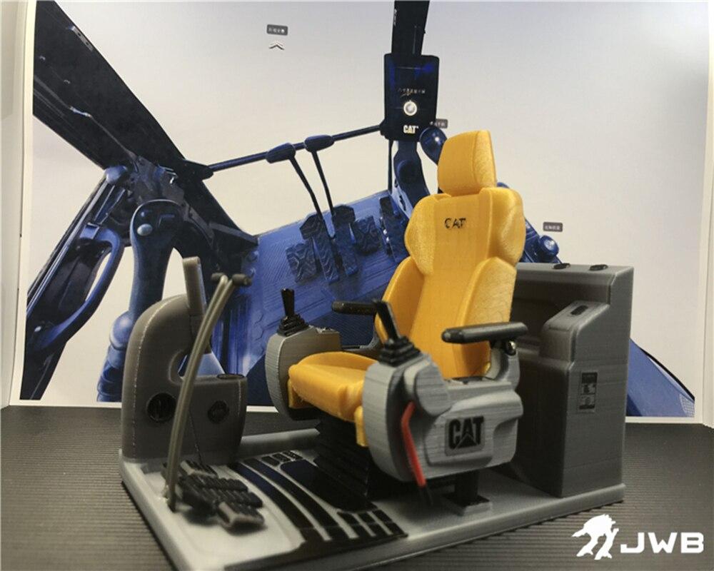 Accessoires de siège de Simulation de cabine de coquille d'excavatrice hydraulique à télécommande pour 1:12 1:14 modèle de grue de poussoir d'excavatrice de chat