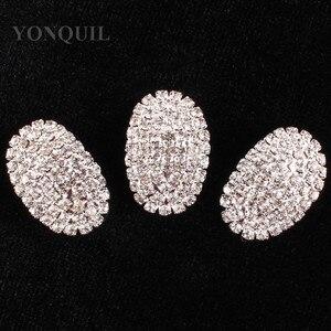 Женские свадебные платья, украшенные полностью кристаллами, овальные броши, материал, сделай сам, ювелирные изделия, головные уборы, аксесс...