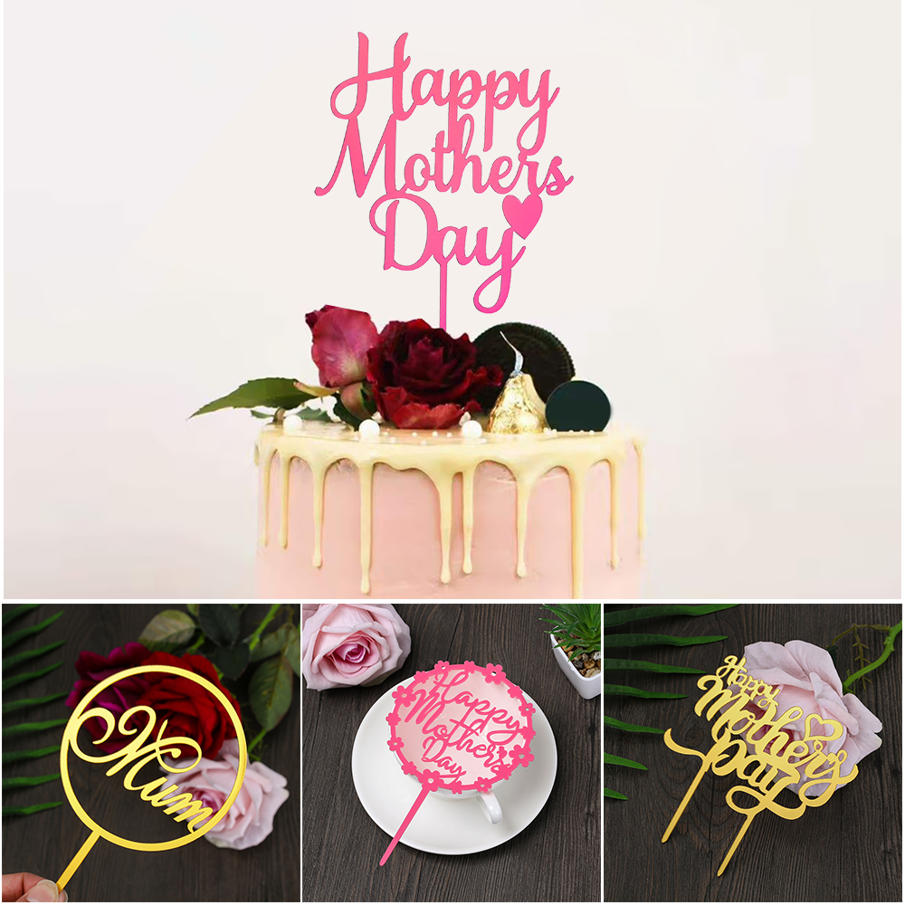 mother 39 s day acrylic cake toppers mum letters print cake decoration love mother birthday party. Black Bedroom Furniture Sets. Home Design Ideas