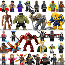 Legoings Marvel Super Héros Infinity Guerre Thanos Tuteurs de Galaxy Araignée iron man Avengers THOR Blocs de Construction Jouets Chiffres(China)