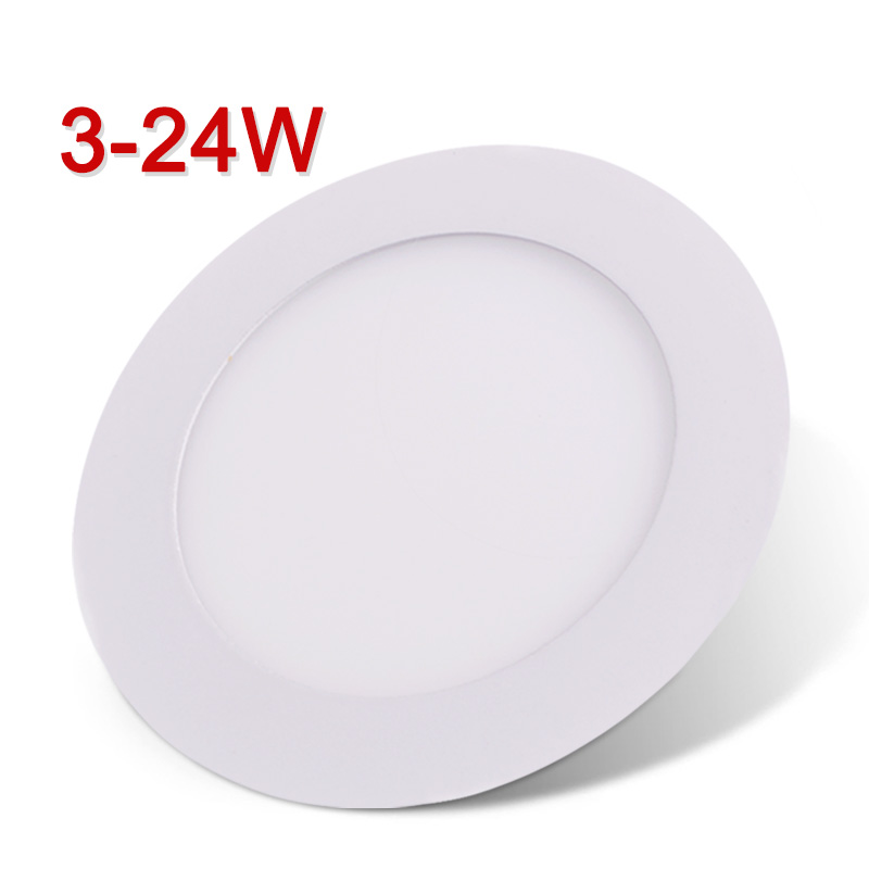 led panel light ultra thin led downlight round led ceiling recessed