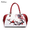 Luxury women handbags Messenger bag zipper leather Chinese style shoulder bag black red ladies bags bolsa feminine sac a main