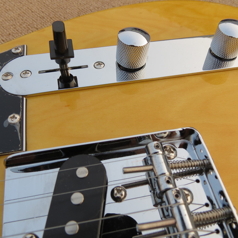 Factory custom shop 2016 New <font><b>telecaster</b></font> yellow wood MAPLE fretboard 6 string electric <font><b>guitar</b></font> Free shipping image