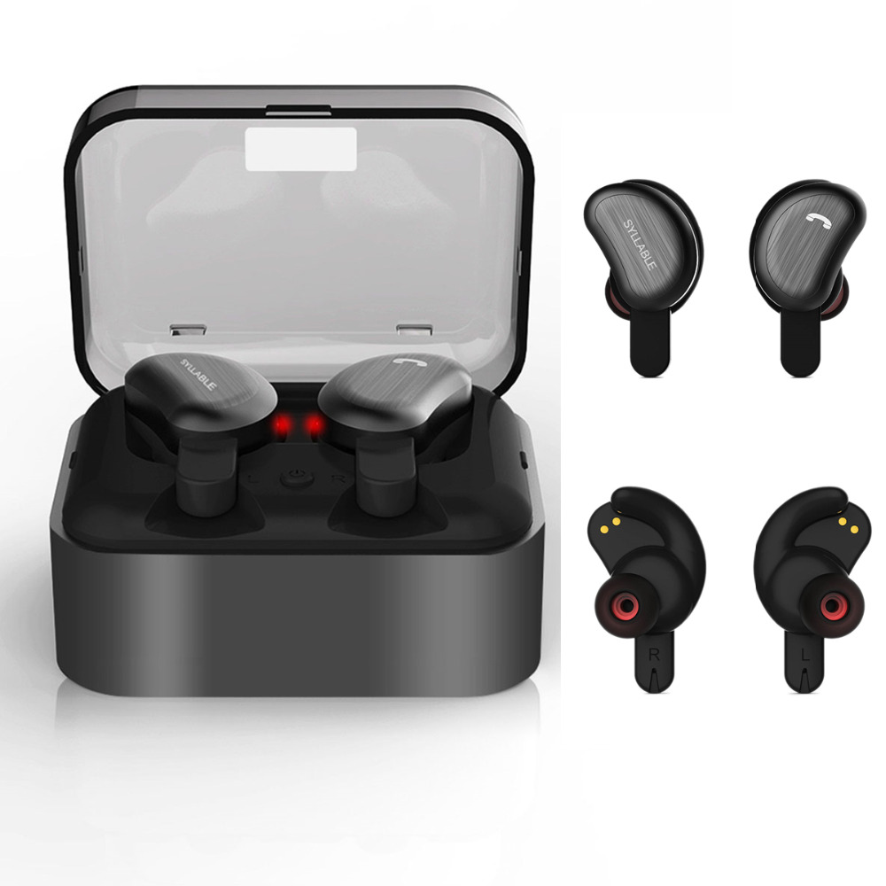 SYLLABLE D9 TWS Bluetooth Earphone True Wireless Stereo Earbud Waterproof Bluetooth Headset HD Communication Portable for iphone morul u5 plus wireless bluetooth earbud earphone bt 4 1 waterproof