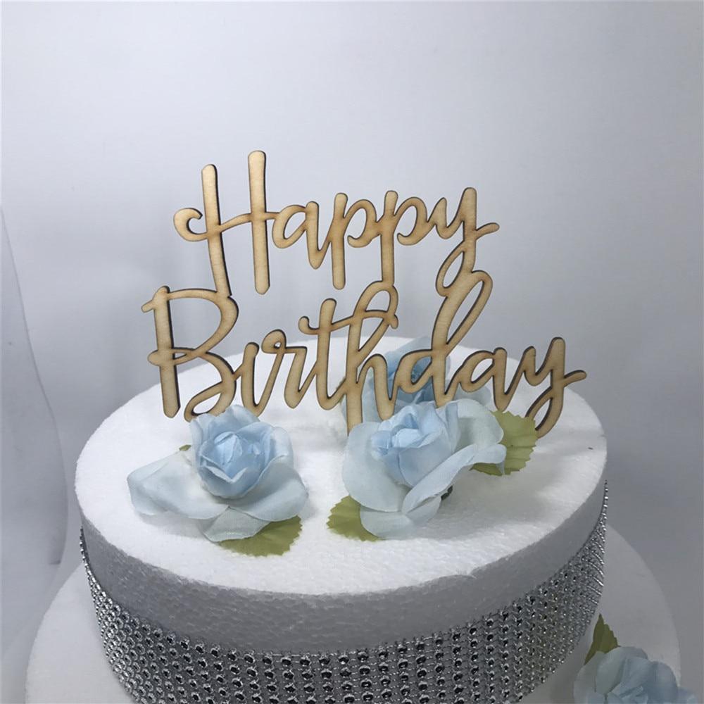 Free Shipping Birthday Cake Topper Happy Birthday Cake