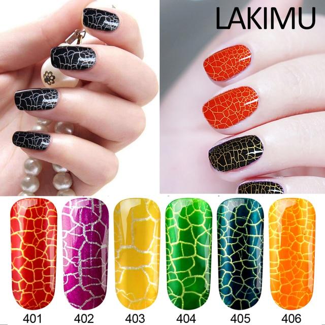 Lakim Gellak 7ml Semi Permanent Crack Gel Nail Polish Lucky Color Fashion UV Lamp Nail Art Crackle UV Gel Varnish Nail Polish