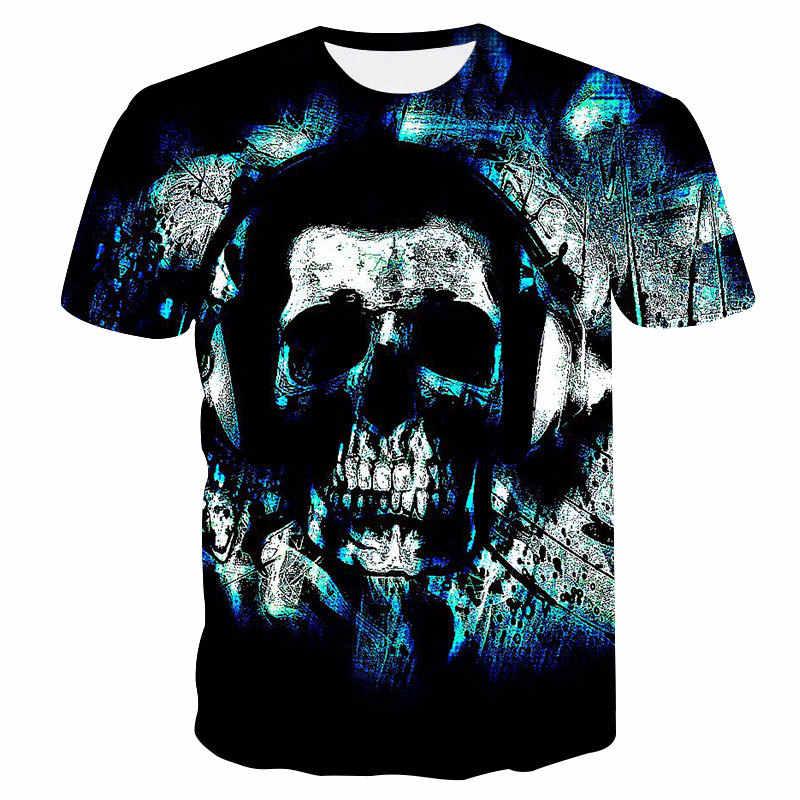 2019 Il Nuovo punisher magliette degli uomini di Estate della maglietta di modo di alta qualità di marca della Maglietta degli uomini Casual Maniche Corte Teschi Stretto t-shirt
