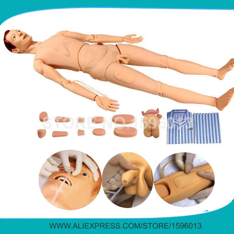 Maniquí de entrenamiento de Enfermería de combinación multifuncional, simulador de cuidado de pacientes, maniquí de enfermería