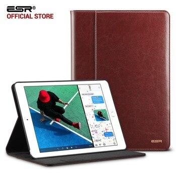 מקרה עבור iPad 9.7 2017 ESR עסקי עור פרימיום PU Folio Stand שרות אוטומטית כיס כיסוי חכם עבור iPad החדש 2018 9.7 מקרה