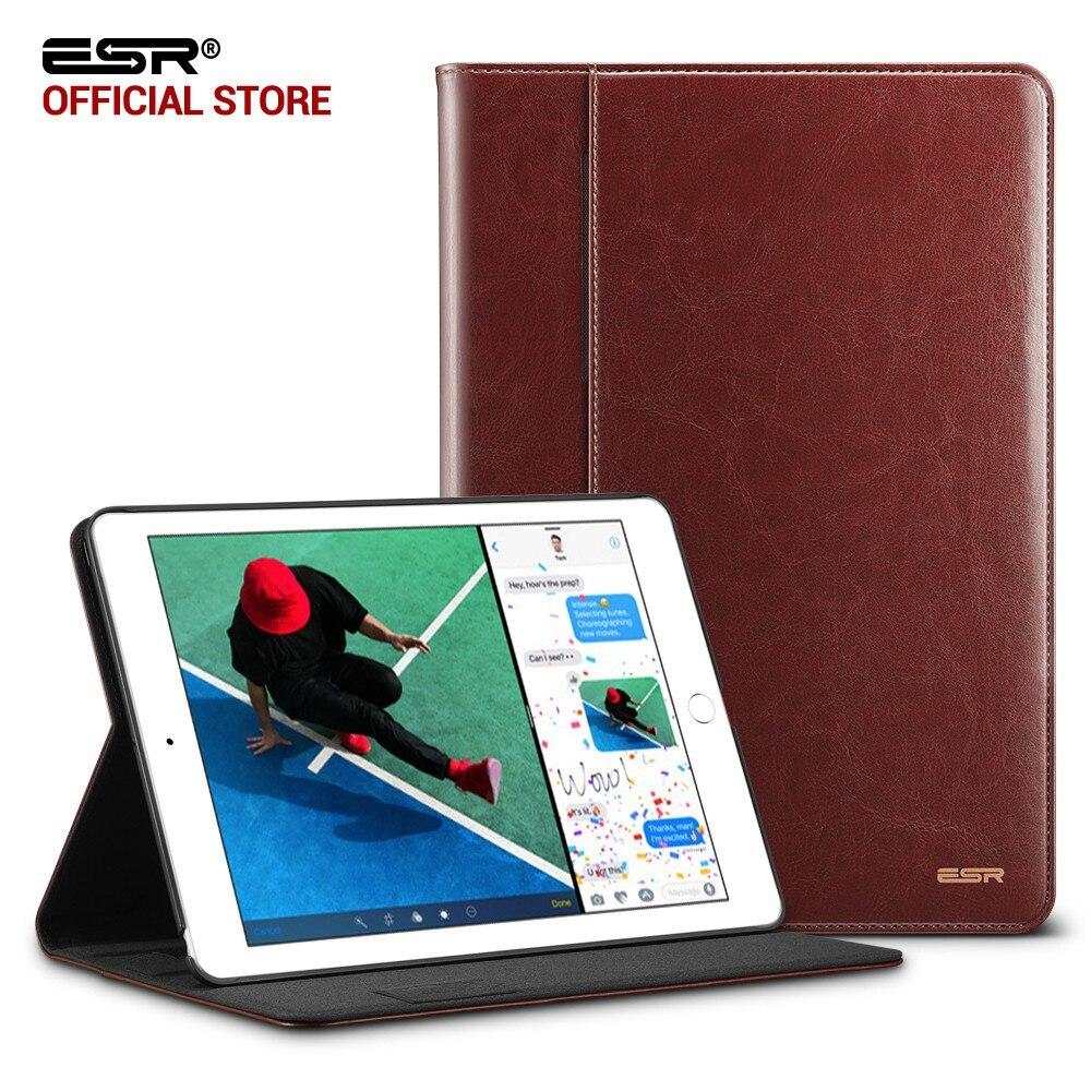 Caso per iPad 9.7 2017 ESR PU Premium Leather Affari Folio basamento Pocket Auto Wake Smart Cover per il Nuovo iPad 2018 9.7 caso
