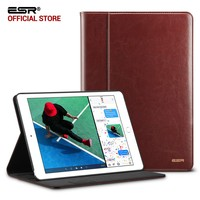 Case For For IPad Air 3 ESR Premium PU Leather Business Folio Stand Organizer Pocket Smart