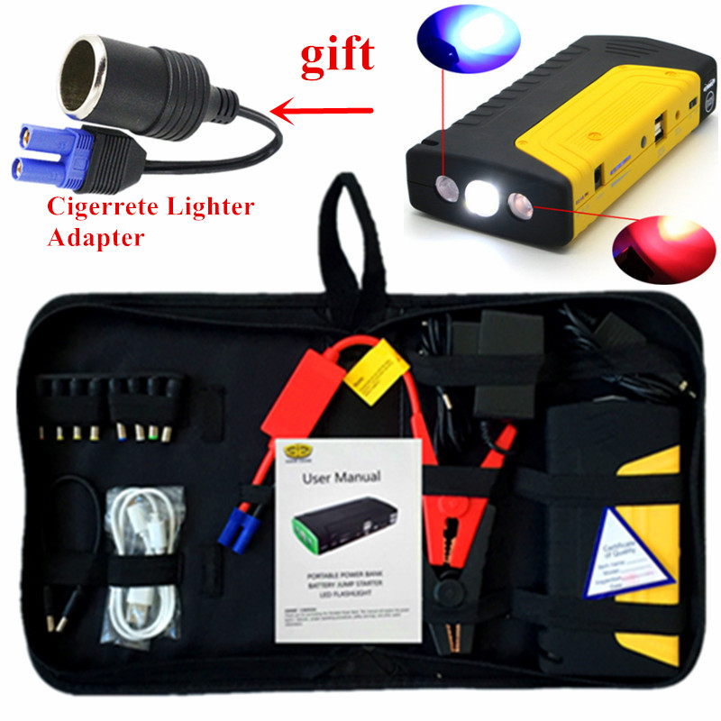 Multi Function Car Jump Starter 12V 600A Portable Starting Device Booster Power Bank Car Charger For