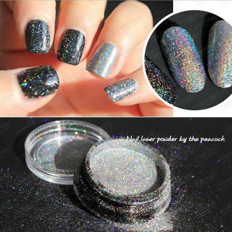 1g Prism Holo Powders Handmade Resin Jewelry Decor Craft Glitter Laser Rainbow Powders Galaxy Nail Art Dust