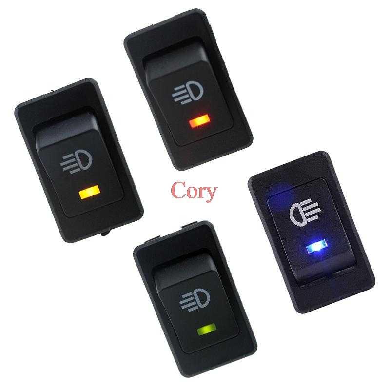 1PC LED on/Off Indicator Rocker Toggle Switch Driving Fog Lamp/Work Light Bar 35A 12VDC 4Pins Fog Light Rocker Switch CZYC